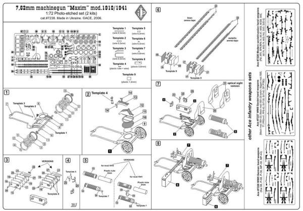 """ACEPE7238    7,62mm """"Maxim"""" machinegun mod.1910/1941 (2 pcs per set) (thumb15683)"""