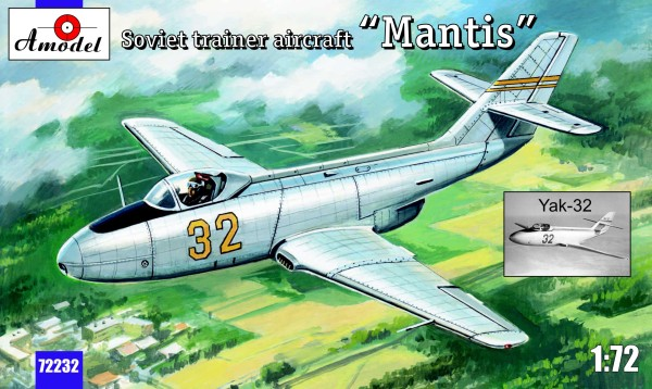 "AMO72232   Yakovlev Yak-32 ""Mantis"" Soviet trainer aircraft (thumb15421)"