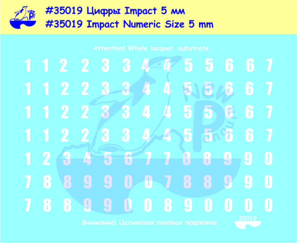 Pen35019   Impact Numeric Size 5 mm For different kits (Russian armor) (thumb14031)
