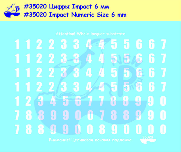 Pen35020   Impact Numeric  Size 6 mm For different kits (Russian armor) (thumb14033)