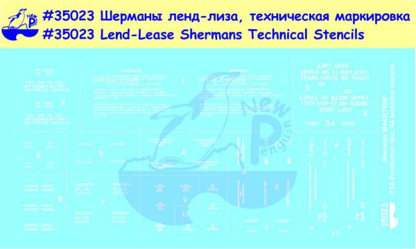 Pen35023   M4A2 (76)W Шерман РККА (ленд-лиз) Техническая маркировка                       (M4A2 (76)W Red Army Sherman (Lend-Lease) Technical Stencils) (thumb14039)