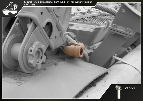 Penf72005   Габаритные огни  ГСТ-64 для Советских/Российских БТТ  поздний тип,16 шт               f72005 1/72 Dimensional light GST-64 for Soviet/Russian AFV, late, 16pcs (thumb14047)