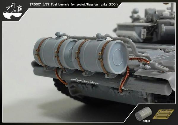 Penf72007   Доп. топливные баки 200л. для Советских/Российских танков                    f72007 1/72 Fuel barrels for soviet/Russian tanks (200l) (thumb14051)