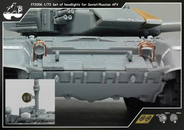 Penf72006   Набор фар для Советских/Российских БТТ f72006 1/72 Set of headlights for Soviet/Russian AFV (thumb14049)