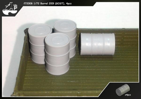 Penf72008   Бочка 200л. (ГОСТ) 4шт            f72008 1/72 Barrel 200l (GOST), 4pcs (thumb14053)