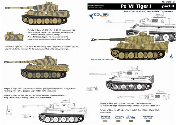 CD35012   Pz  VI  Tiger I  -  Part II  SS-Pz.Div- LSSAH, Das Reich, Totenkorf (thumb14194)