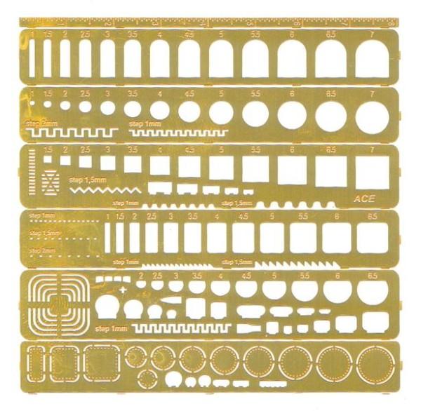 ACEa001     Template set - Набор шаблонов для нанесения расшивки (любой масштаб). (thumb13674)