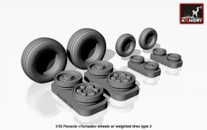 "AR AW32501b   1/32 Panavia ""Tornado"" wheels, w/ tires type 2 (thumb17283)"