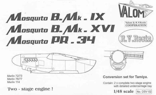 VMDSV02   DE HAVILLAND MOSQUITO B.IX/XVI/PR.38 ENGINE NACELLES 1/48 (thumb17841)
