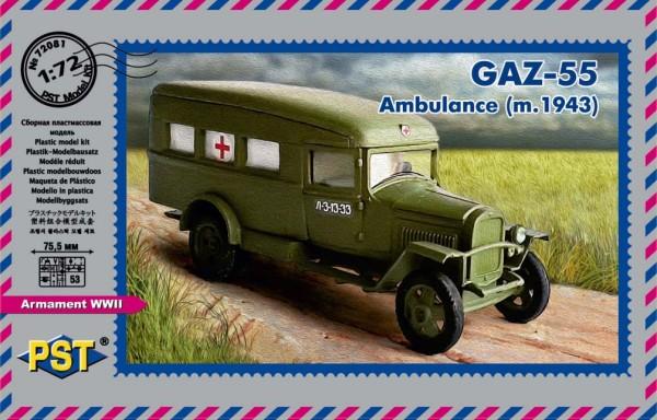 PST72081   Санитарный автомобиль ГАЗ-55 (1942) (thumb16032)