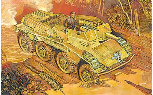 RN707   Sd.Kfz. 234/3 WWII German armored vehicle (thumb20418)