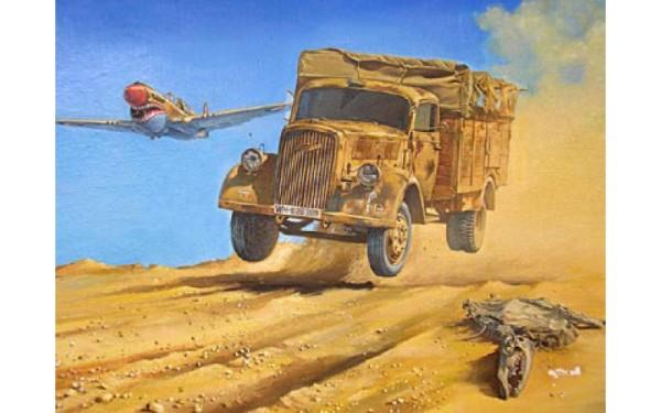 RN710   Opel Blitz (Kfz.305, 4x2) WWII German army truck (thumb20431)