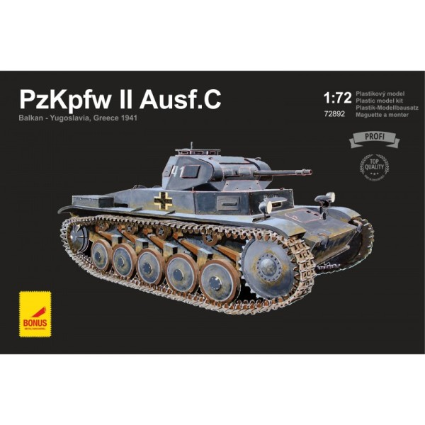 ATH72892 PzKpfw II Ausf.C Balkan - Yugoslavia, Greece 1941 (with 2 metal gun barrels) (thumb17071)