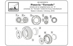"AR AW32501b   1/32 Panavia ""Tornado"" wheels, w/ tires type 2 (attach5 17283)"