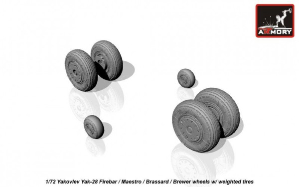 AR AW72047    1/72 Yak-28 wheels w/ weighted tires (thumb15589)