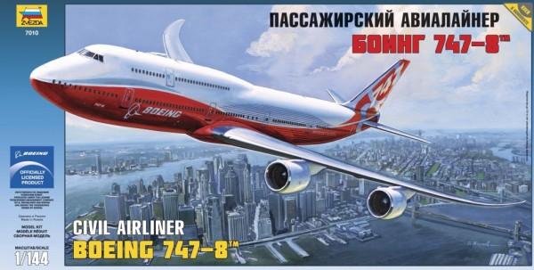 """ZV7010    Пасс. авиалайнер """"Боинг 747-8"""" (thumb19035)"""
