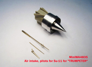 "MiniWA4835    Air intake, pitots for Su-11 for ""TRUMPETER"" (attach3 15653)"