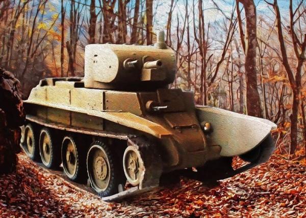 ZebSEA026   Легкий танк БТ-7. Первый опытный вариант (thumb16178)