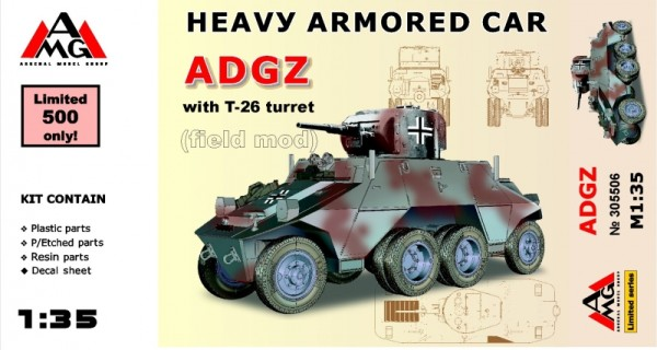 AMG35506   Heavy Armored Car ADGZ with T-26 turret (field mod) (thumb14724)