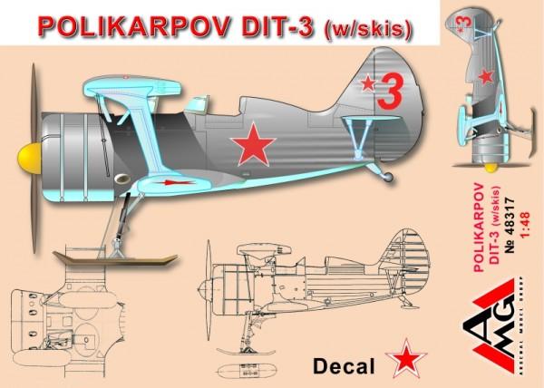 AMG48317   Polikarpov DIT-3 (w/skis) (thumb14756)
