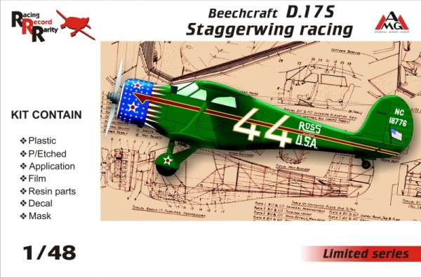 AMG48503   Beechcraft D.17S Staggerwing racing (thumb14766)