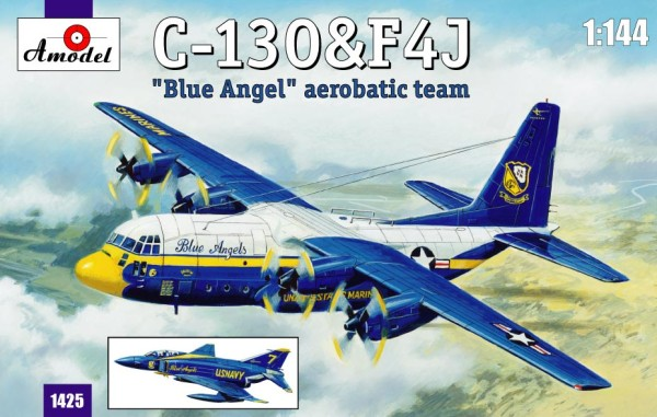 AMO1425   C-130&F4J 'Blue Angel' Aerobatic team (thumb14866)
