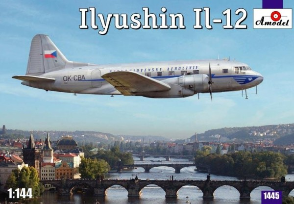 AMO1445   Ilyushin IL-12 Czech airliner (thumb14908)