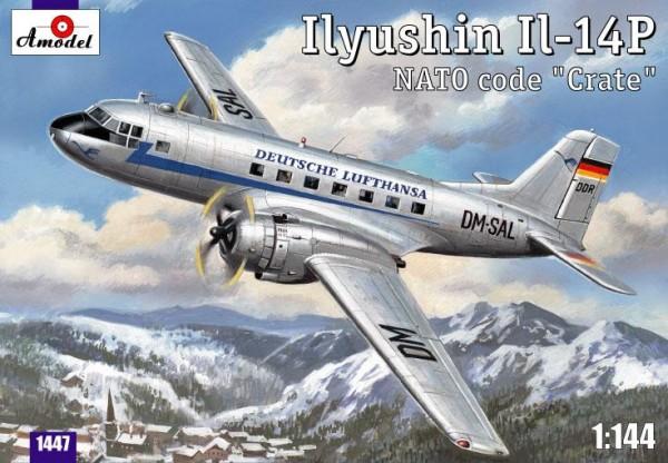 AMO1447   Ilyushin IL-14P DDR Lufthansa civil aircraft (thumb14910)