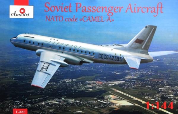 AMO1469   Tupolev Tu-104 airliner, Aeroflot, kit1 (thumb14956)