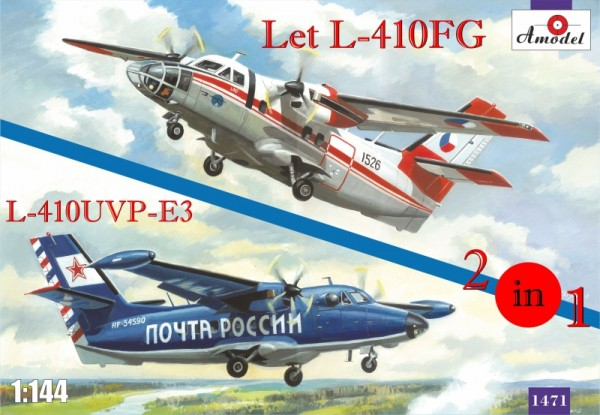 AMO1471   Let L-410FG & L-410UVP-E3 aircraft (2 kits in box) (thumb14962)