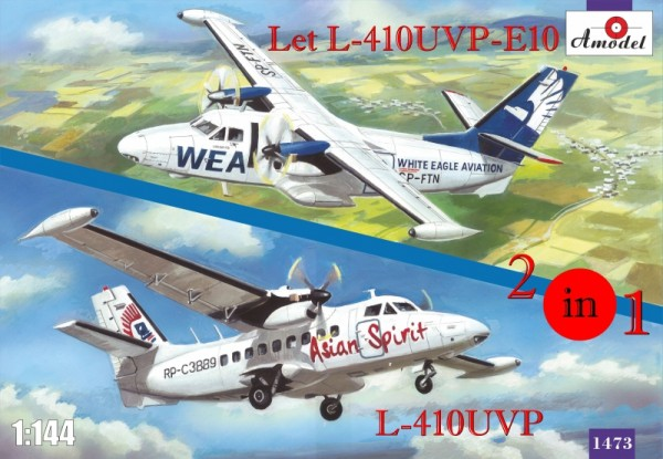 AMO1473   Let L-410UVP-E10 & L-410UVP aircraft (2 kits in box) (thumb14966)