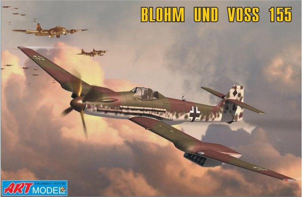 ART7202   Blohm und Voss 155V2 WWII German interceptor (thumb14790)
