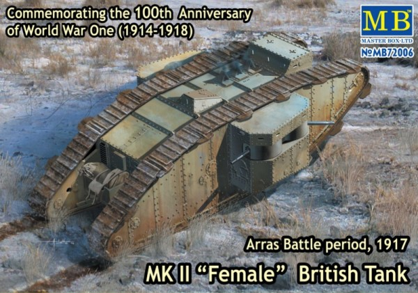 "MB72006   Mk II ""Female"" British tank. Arras Battle period, 1917 (thumb18222)"
