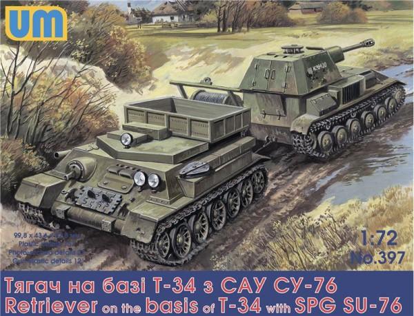 UM397   Retriever on T-34 basis with SPG Su-76 (thumb15939)
