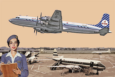 RN302   Douglas DC-7C KLM Royal Dutch Airlines (thumb20251)
