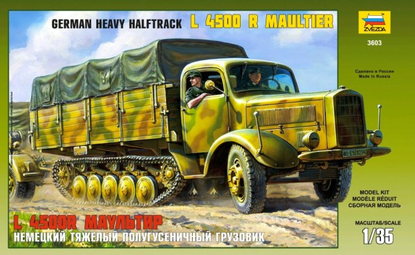 ZV3603   Немецкий тяжелый полугусеничный грузовик L 4500R Маультир (thumb18740)