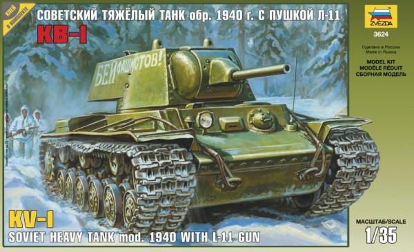 "ZV3624    Советский танк ""КВ-1"" мод. 1940г. (thumb18794)"