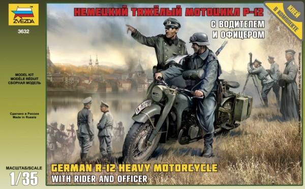 ZV3632    Нем. Мотоцикл Р-12 с водителем и офицером (thumb18803)