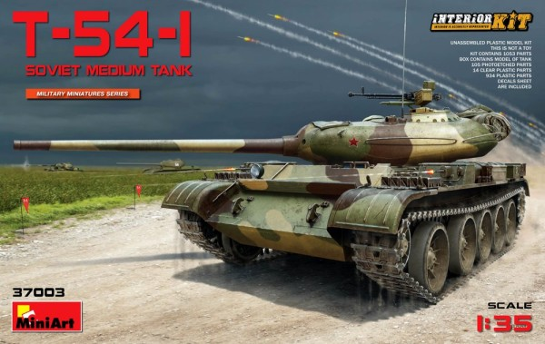MA37003   T-54-1 Soviet medium tank, Interior kit (thumb20983)
