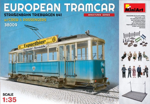 MA38009   European tramcar (Strassenbahn Triebwagen 641) with crew & passengers (thumb21057)
