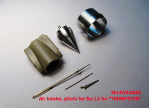 "MiniWA4835    Air intake, pitots for Su-11 for ""TRUMPETER"" (attach2 15653)"