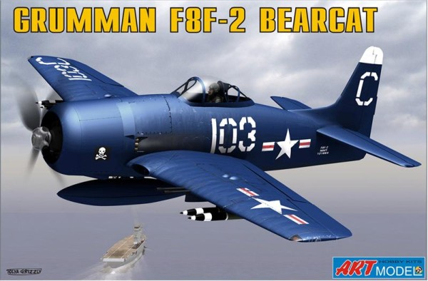ART7201   Grumman F8F-2 BEARCAT USAF carrier based fighter (thumb14788)