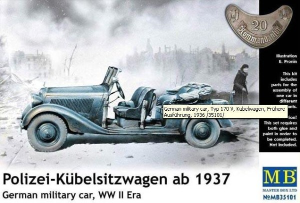 MB35101   Polizei-Kubelsitzwagen ab 1937. German military car (thumb18112)