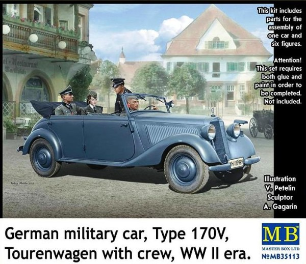 MB35113   German military car, Type 170V Tourenwagen with crew WWII (thumb18126)