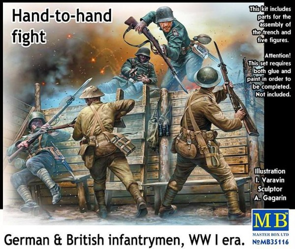 MB35116   Hand-to-hand fight, German & British infantrymen, WWI era (thumb18132)