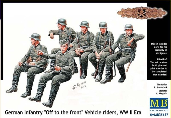 MB35137   German infantry 'Off to the front' vehicle riders (thumb18142)