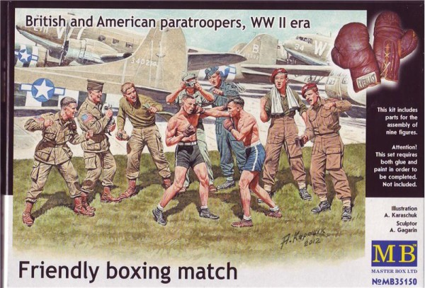 MB35150   Friendly boxing match. British and American paratroopers (thumb18156)