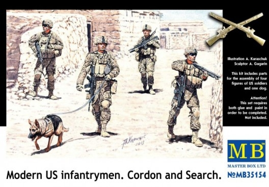 MB35154   Modern U.S. infantrymen. Cordon and Search (thumb18164)