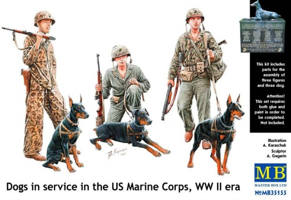 MB35155   Dogs in service in the US Marine Corps, WW II era (thumb18166)
