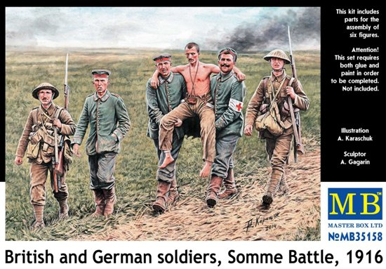 MB35158   British and German soldiers, Somme Battle, 1916 (thumb18170)